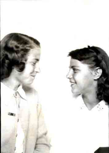 Freida and Mary Mock about 1949